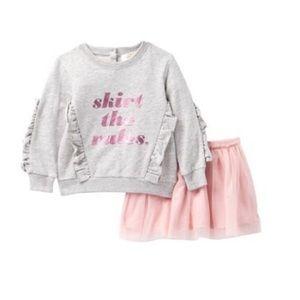 NWT Kate spade skirt  rules sweatshirt/skirt set